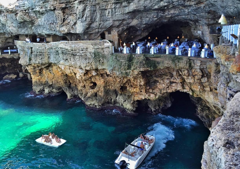 Restaurante Grotta Palazzese em Puglia